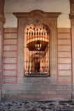 Window of Palace Justice of Morelia. A window of the Palace located in the downtown of Morelia Stock Image
