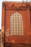 A window of an the Palace of Winds. East style. India Royalty Free Stock Image