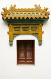 Chinese windows. Window of Panchen Lama temple, located in Beijing Fragrant Hills. Its tibetan culture Stock Images