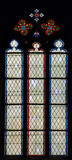 Window pane. Old church window pane with dark background Royalty Free Stock Photo