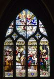 Window-pane from gothic church in Paris Stock Images