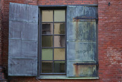 Window with panels Stock Image