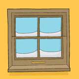 Window Panes with Snow Royalty Free Stock Photos