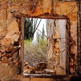 Window part of a old house. Old House window Bonaire Caribbean Royalty Free Stock Image