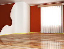 A window and a partition Stock Images