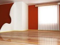 A window and a partition. Interior design scene  with a window and a partition Stock Images