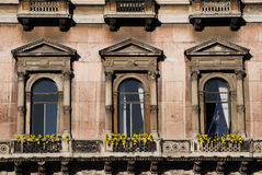 Window pattern in classic building Stock Image