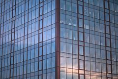 Window Pattern On Building In Business District Royalty Free Stock Photos