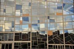 Window pattern reflection Royalty Free Stock Photography