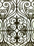Window patterns. Is curved steel Stock Images