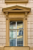 Window with pediment in Prague, Czech Republic Stock Images