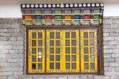 Window at the Pemayangtse Monastery, Sikkim, India Stock Images