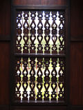Window with perforate. Window wood with perforate style Stock Image