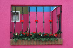 Window on pink wall Royalty Free Stock Photos