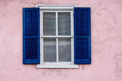 Window on pink wall Royalty Free Stock Images