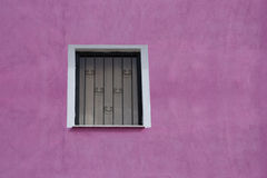 Window on pink wall Royalty Free Stock Image