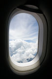 Window of a plane Stock Photography