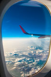 The window of a plane Stock Images