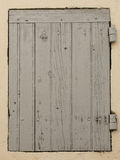Window of planks. An ancient door of a wooden window Royalty Free Stock Photography