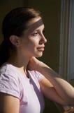 Window Portrait Stock Image