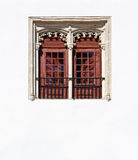 Window. Portuguese Window with a balcony in the Style of Manueline royalty free stock photography