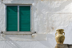 Window and pot Stock Image