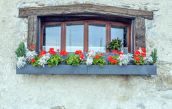 Window with pots Royalty Free Stock Photos