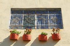 Window with pots I Stock Photos
