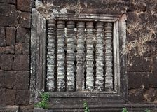 Window in Pre-Angkor Ruins Royalty Free Stock Images