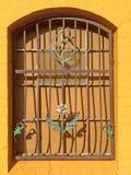 Window with pretty flowers Royalty Free Stock Photo