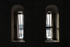 Window with prison bars prissoner Royalty Free Stock Photo