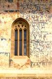 Window. Probota Monastery, medieval orthodox monastery in Moldavia, Romania Stock Photos
