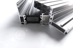 Window profiles. Profiles for window and door production Royalty Free Stock Image