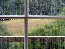 Window with Rain Drops Royalty Free Stock Image