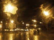 Window rain drops Stock Images