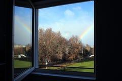 Window with rainbow Royalty Free Stock Photos