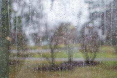 Window with raindrop pattern Stock Image