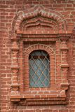 Window in a red brick house& royalty free stock photo