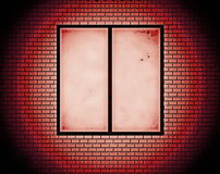 Window and red brick wall Royalty Free Stock Photography