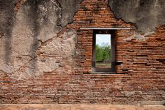 A window on the red brick wall Royalty Free Stock Photo