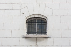 Window on a red brick wall with vintage tone Royalty Free Stock Photography