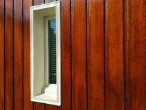Window in red wood Stock Photos