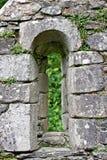 Window of Reefert Church ruins, Glendalough, Ireland Stock Image