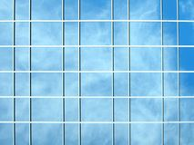 Window reflection - clouds in the background Stock Photo