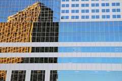 Window reflection in Vancouver Stock Image