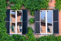 Window Reflections in Italy Stock Photo