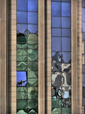 Window reflections. Multiple reflections in windows building royalty free stock images