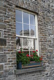 Window reflexions. Irish castle reflected Royalty Free Stock Images