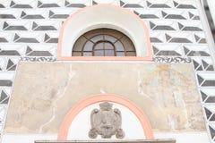 Window of renaissance church in Pisek Royalty Free Stock Image