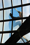 Window Repair. Window replacement being install by contractor Royalty Free Stock Photos